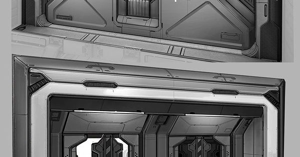Concept art halo 2 anniversary doors iuliia misiul on artstation at - Several artistic concepts for main door ...
