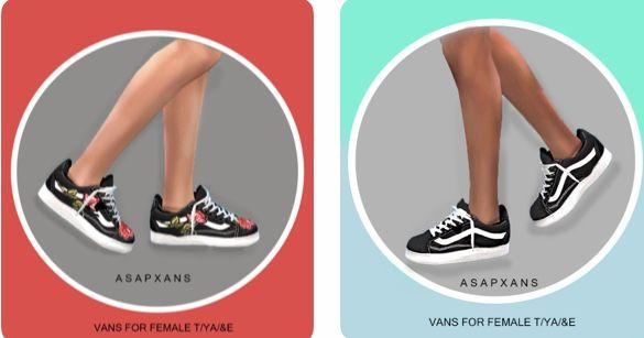 Van Sneakers | Sims 4 clothing, Vans sneakers, Sims 4 cc
