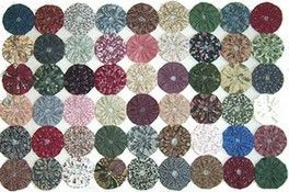 YoYo/'s Appliques Sewing Die Cut by Hand Fabric Circles for Quilting