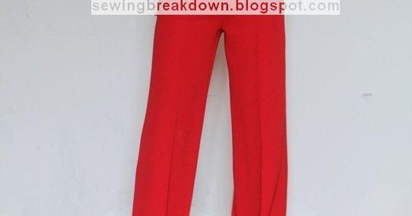 خياطة و تفصيل كيفية خياطة سروال نسائي واسع بالخطوات Clothes Pants For Women Fashion