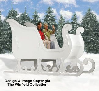 Reindeer Sleighs Ginormas Sleigh Woodworking Plans Christmas Yard Art Christmas Yard Decorations Winfield Collection