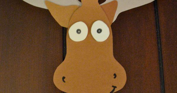 Moose craft | Fall Preschool Ideas | Pinterest | Moose ...