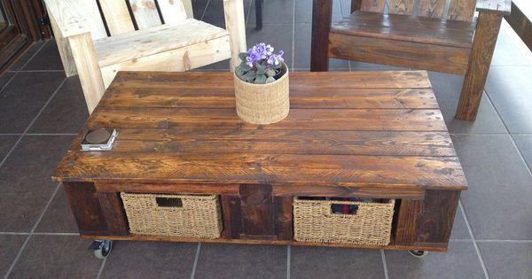 Sillas y mesas hechas con palets for Sillas hechas de palets