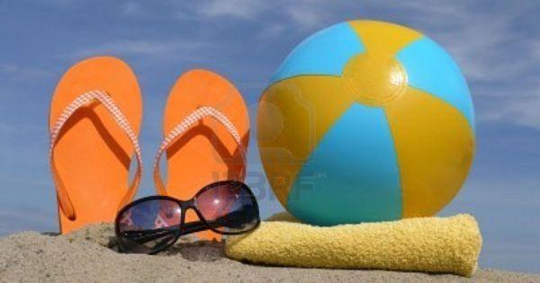 orange flip flops, sunglasses, beach towel | See more about Beach Towel, Flip Flops and Towels.