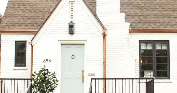 Denver Tudor Reveal White Brick Houses Studio Mcgee And