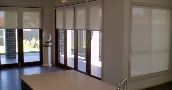 Roller Blinds Over Bi Fold Doors By Rainsfords Adelaide