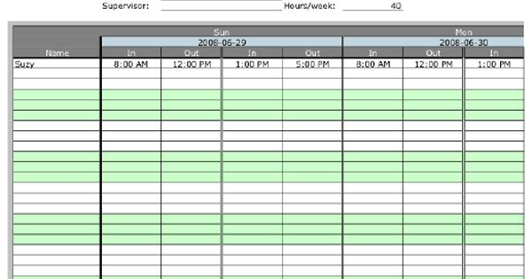 Weekly Multiple-Employee Timesheet with overtime calculation, 2 - sample biweekly timesheet calculator