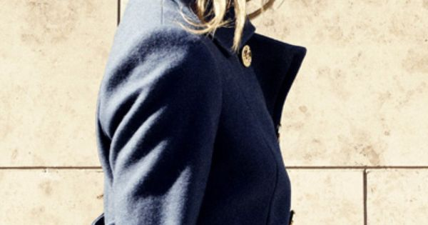 Tory Burch navy coat so pretty