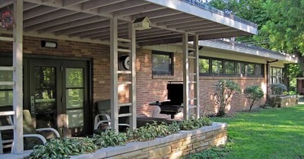 01 Old Florissant Fire House Mid Century Exterior Modern Porch Mid Century Modern House