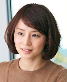 石田ゆり子 前髪なしボブ 40代 髪型 若く見える 40代が憧れる