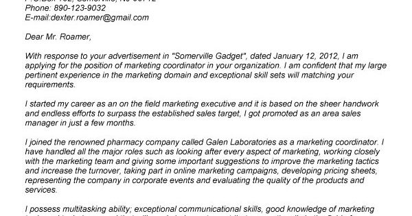 Marketing event coordinator cover letter 29,633 Event Coordinator - marketing coordinator job description