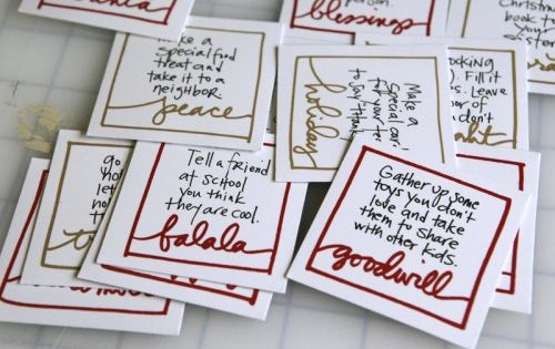 Advent Action Cards. Service-oriented, not self-oriented. {Ali Edwards}