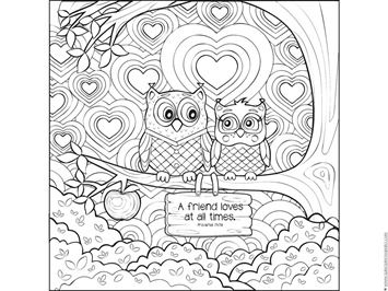 Love Bible Verse Coloring Pages Owl Coloring Pages Coloring