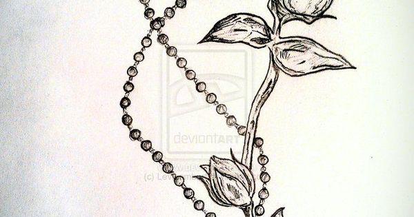 rosary rose cross super cute tattoo ideas pinterest tattoo tatting and piercings. Black Bedroom Furniture Sets. Home Design Ideas