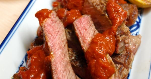 ... charred pepper steak sauce) | From my own kitchen | Pinterest | Steaks