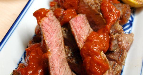 ... charred pepper steak sauce) | From my own kitchen | Pinterest | Steaks