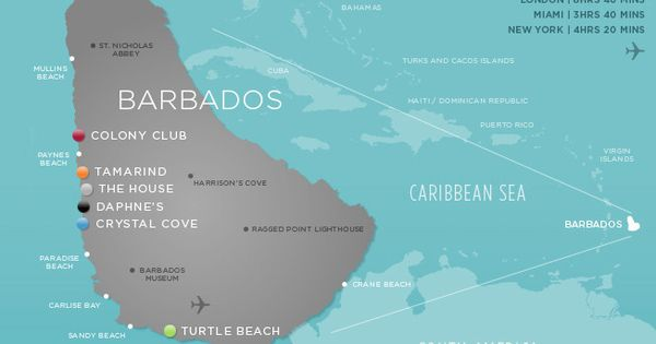 Barbados Elegant Hotels Caribbean Map Places I D Like To