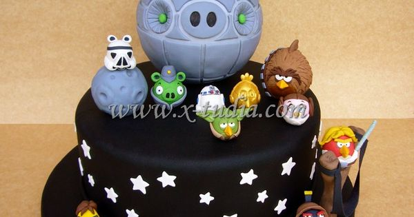 Cake angry birds star wars tortas tematicas pinterest for Angry birds cake decoration kit