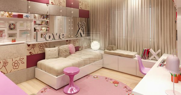 Teen girl bedroom, this would have been my dream room!!