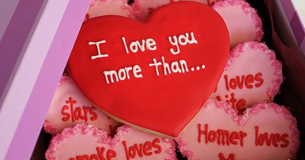 •❈• Valentine's Cookie Gift: I Love You More Than... What a cute