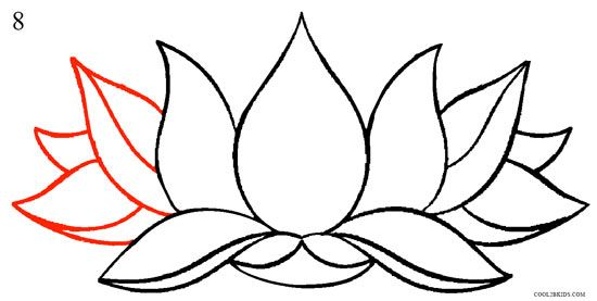 How To Draw Lotus Flower Step 8 Flower Drawing Tutorials Lotus Flower Art Lotus Flower Painting