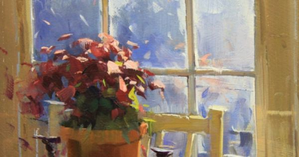 Winter light in atlanta by colley whisson 10x7 oil for Atlanta oil painting artists