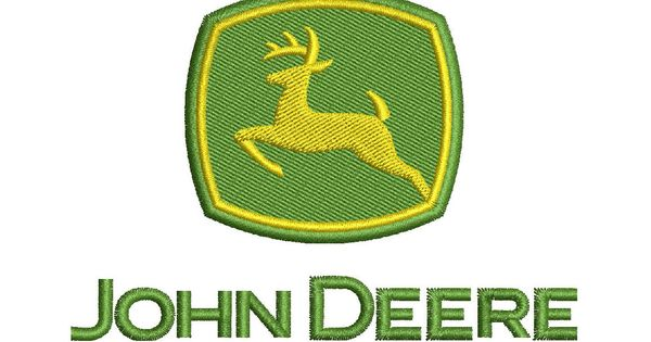 John Deere Emblem Embroidery Designs : John deere logo machine embroidery design