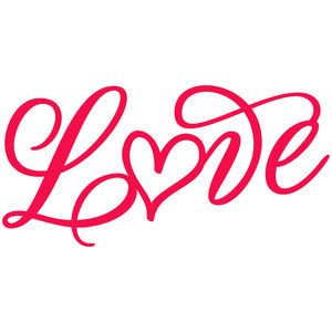 Love Hand Written Silhouette Design Lettering Silhouette