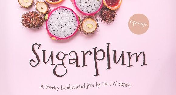 Sugarplum font that dance in your head with its playful carefree spirit