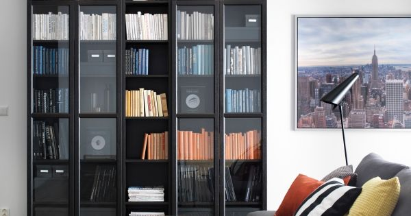 Billy Oxberg Bookcase Black Brown Bookcases Storage And Catalog
