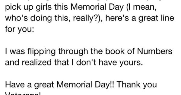memorial day jokes and one-liners