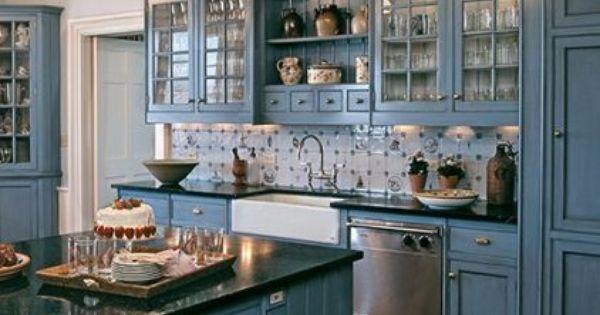 Blauw, Keukens and Kasten on Pinterest