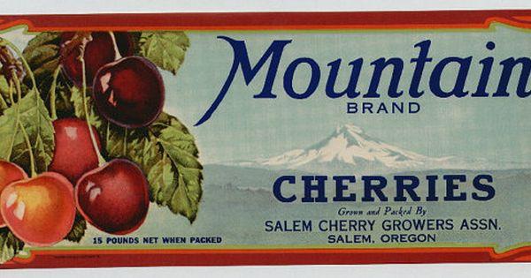 OREGON BRAND Raspberries Can Label Salem OR