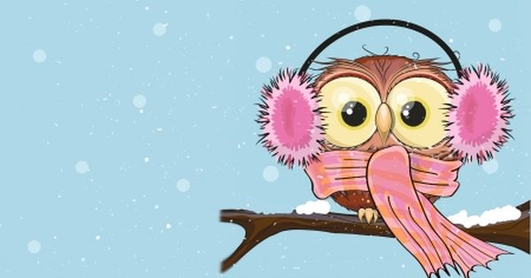 Cold Winter Owl Winter Snow Ear Muffs Owl Cold Cute Winter Owl Owl Wallpaper Owl