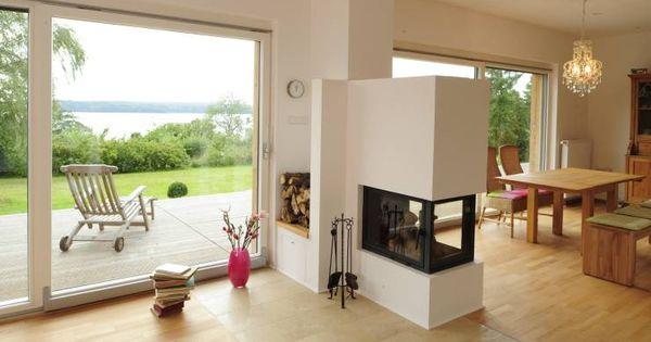 kamine als raumteiler moderne wohnzimmer fritz und. Black Bedroom Furniture Sets. Home Design Ideas