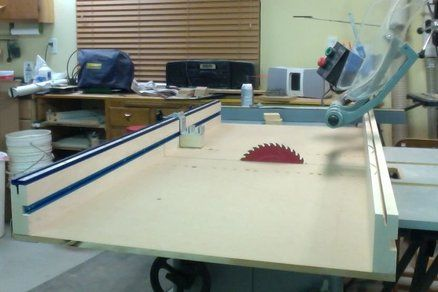 Table Saw Crosscut Sled With Incra Miter Slides And Kreg Precision Trac And Stop Kit Table Saw Table Saw Sled Table Saw Crosscut Sled