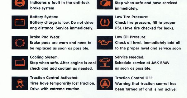 Dash Warning Lights Explained Maintaining Your Car