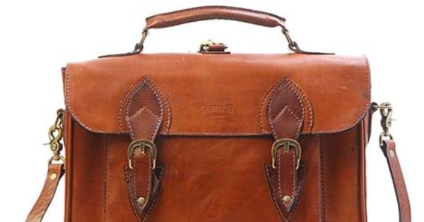 Leather satchel - leather bag - work - travel - cycle