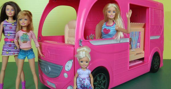 Camper Built In Pool Playing Video Picnic Hammock Barbie Chelsea Stacie Skipper Outdoors Rv