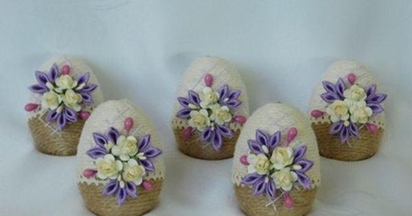 Piekne Jajka Pisanki Sznurkowe Ozdoby Wielkanocne 6733301997 Oficjalne Archiwum Allegro Easter Egg Decorating Easter Diy Easter Eggs
