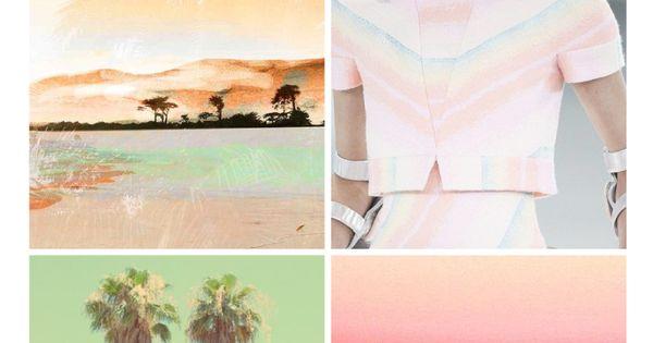#carolinececiltextiles trend inspiration. Pastel Palm ...