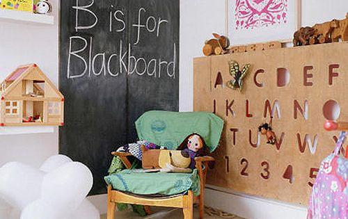 Playroom chalk board