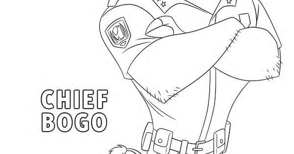 Free Disney Zootopia Chief Bogo Coloring Page