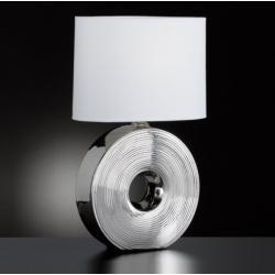 Tischleuchte Honsel-Leuchten Fuß Keramik weiß silber Stilvolle Beistellleuchte