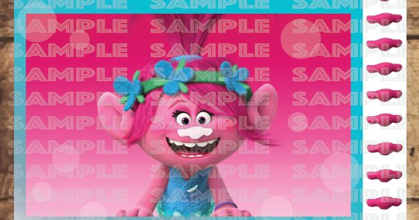 TROLLS PARTY GAME,Poppy Pin The Nose, Pink Trolls movie Party decor 18X24u0026quot; Poster size (Big) by ...