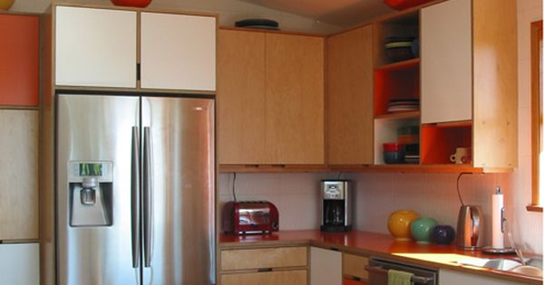Mid Century Modern Kitchen Cabinets By Kerf Design Seattle Wa Kitchen Pinterest Mid