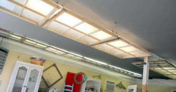 Cover Ugly Fluorescent Light Fixtures With Privacy Film
