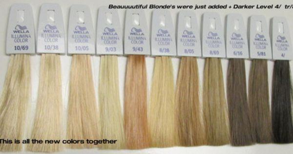 Illumina Hair Color By Wella Wella Toner Chart Wella Illumina Color Wella Illumina