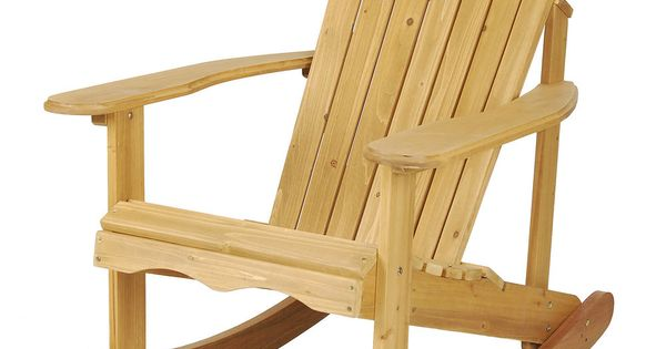 Astonica 50108029 Wood Outdoor Adirondack Rocking Chair Finished Pretty Thi