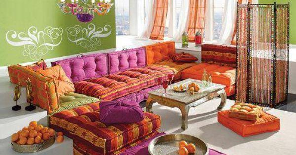 Salon marocain d 39 inspiration indienne i love it for Salon indien